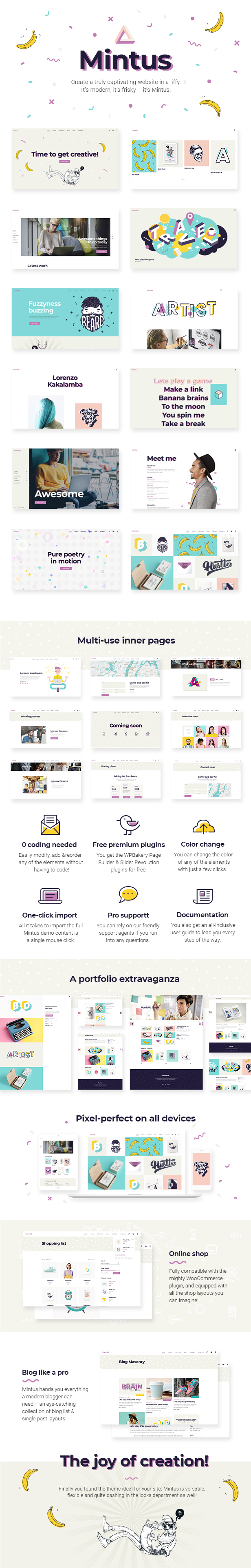 Mintus - Portfolio Theme for Illustrators and Designers - 1